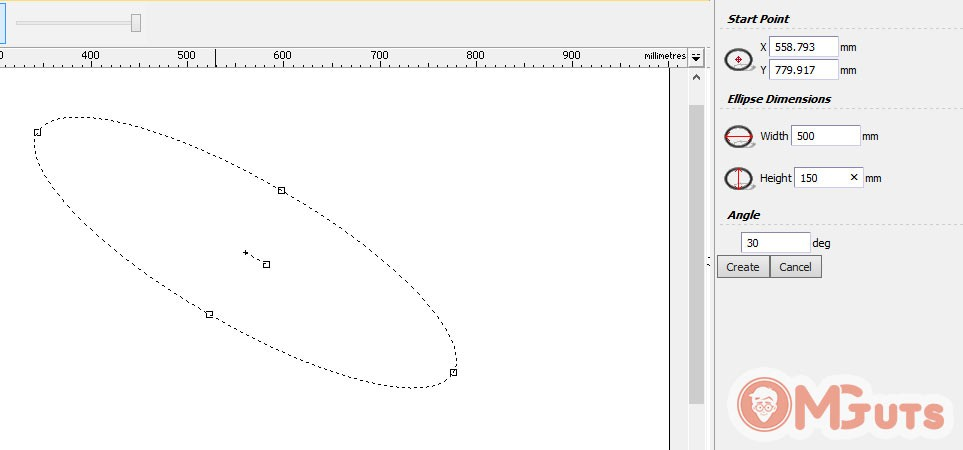 Creating Ellipse in Artcam