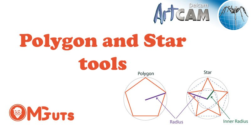 Creating Polygon and Star geometry in Artcam + Video