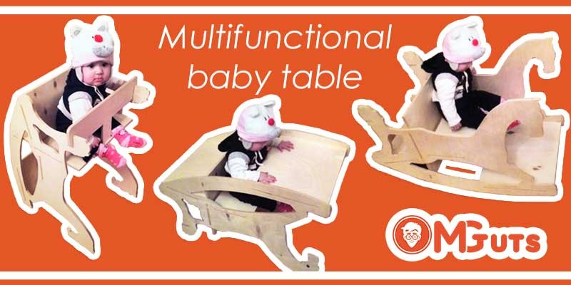 How to create Multifunctional baby table
